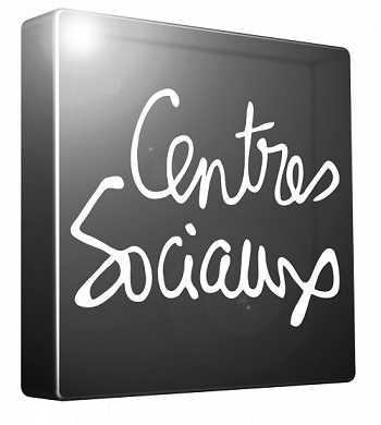 Logo Centres sociaux parisiens noir et blanc léger